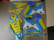 New DRZ 400 S E SM 00-19 FLU PTS4 Graphics Sticker Decals Kit Enduro